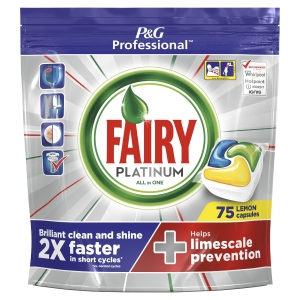 FAIRY PROFESSIONAL ADW PLATINUM DISHWASHER TABLETS LEMON- PACK OF 75
