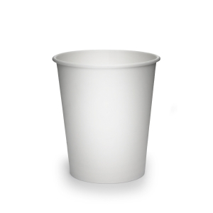 White Single Wall Hot Paper Cup 8oz- Pack of 50