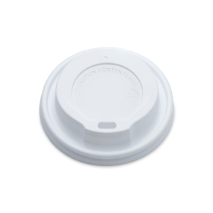 SIP THROUGH WHITE COFFEE LID 12/16OZ- PACK OF 100