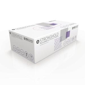 Stronghold Purple Nitrile Gloves Size Medium Box 100