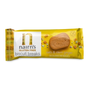 NAIRN GLUTEN FREE OATS AND STEM GINGER BISCUITS- PACK OF 12