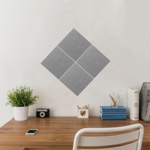 STICK & MIX NOTICE BOARDS 30X30CM GREY - PACK OF 4
