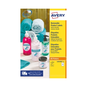 Avery L4853REV-25 Removable Round Labels, Ø51mm, 15 Labels Per Sheet