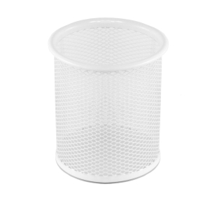 Osco PP1-Wht Pen Pot Wiremesh White