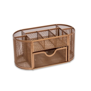 Osco Md01-Rg Desk Organiser Wire Mesh Rose Gold