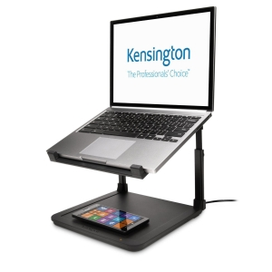 KENSINGTON LAPTOP RISER WITH WIRELESS CHARGE PAD