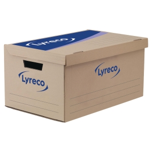 Lyreco Storage Box Standard White - Pack Of 10