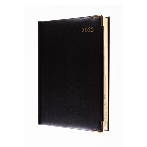 COLLINS CLASSIC A5 EXECUTIVE DIARY BLACK - PAGE A DAY