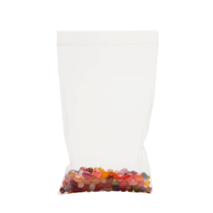 MINI GRIP CLEAR BAGS 100 X 140MM WITH WRITE-ON PANEL - BOX OF 1000