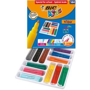 BIC KIDS FIBRETIP PENS ASSORTED COLOURS - PACK OF 144