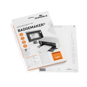 Durable Security Name Badge Without Clip 60X90mm Transparent - Pack of 20