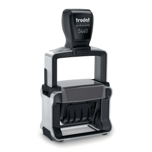 Trodat 5440L Wording Printy Self-Inking Dater Stamp - 4mm Character Size