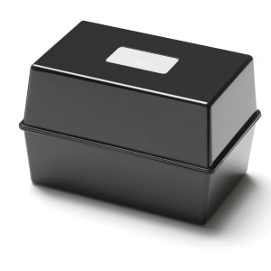 Black 203 X 127mm Card Index Box