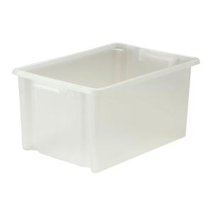 Strata Clear Jumbo Plastic Storage Crate L560 X W385 X H280mm
