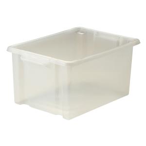 Strata Clear Maxi Plastic Storage Crate L470 X W340 X H240mm