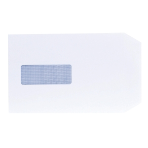 LYRECO WHITE C5 MAILING ENVELOPES GUMMED WINDOW 90GSM - BOX OF 500