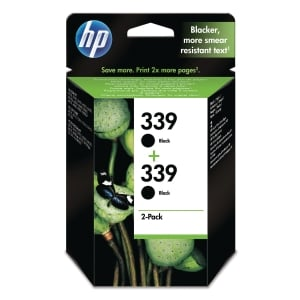 HP 339 2-PACK BLACK ORIGINAL INK CARTRIDGES (C9504EE)