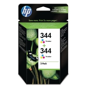 HP 344 2-Pack Tri-Colour Original Ink Cartridges (C9505EE)