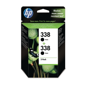 HP 338 2-Pack Black Original Ink Cartridges (CB331EE)