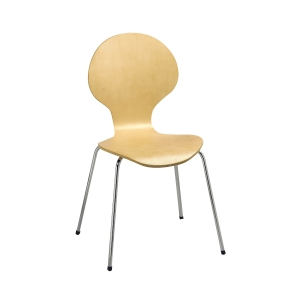 Chair Latte Chrome And Beech