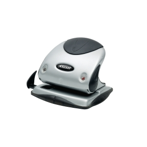Rexel P225 25 Sheet 2 Hole Punch Metal Silver/Black