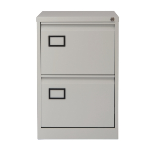 BISLEY AOC2V4 METAL FILING CABINET 2 DRAWER GREY