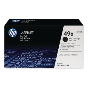 HP 49X 2-Pack High Yield Black Original Laserjet Toner Cartridges (Q5949XD)