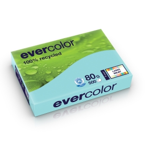 Evercolour Recycled Paper A4 80 gsm Blue - 1 Ream of 500 Sheets
