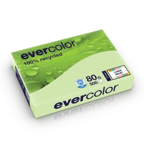 Evercolour Recycled Paper A4 80 gsm Green - 1 Ream of 500 Sheets