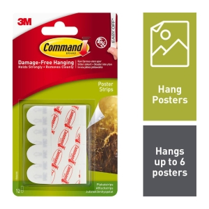 COMMAND POSTER STRIPS - PACK 12