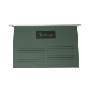 LYRECO GREEN FOOLSCAP SUSPENSION FILES V BASE - PACK OF 50