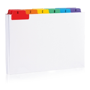 A-Z Guide Cards 203 X 127mm - Pack of 25
