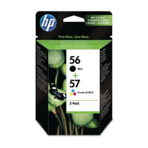 HP 56 Black/57 Tri-Colour 2-Pack Original Ink Cartridges (SA342AE)