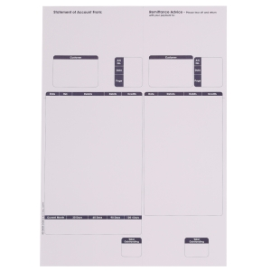 SAGE COMPATIBLE STATEMENT FORMS A4 LASER 1 PART - BOX OF 500