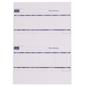 Sage Compatible Payslip Advice Forms A4 Laser 1 Part - Box of 1000