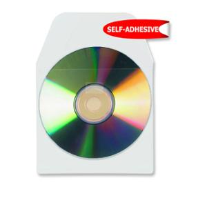 3L CD/DVD POCKETS WITH FLAP NON ADHESIVE BACKED - PACK OF 25