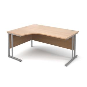 Modular C Frame Radial Desk Left Hand Beech