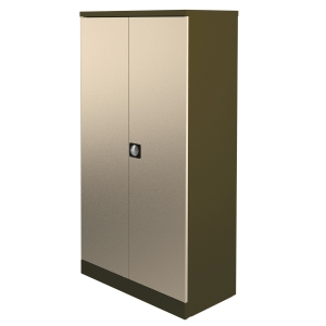 KONTRAX STATIONERY CUPBOARD 1.8M COFFEE / CREAM