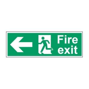 Fire Exit Left Sign 450 X 150mm Vinyl