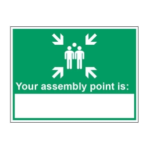 Nearest Assembly Point Sign 200 X 150mm Vinyl