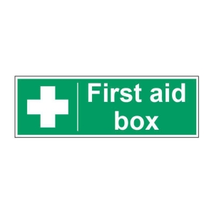 First Aid Box Sign 100 X 300mm PP