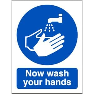 WASH HANDS SIGN 150 X 200MM PP
