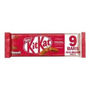 KITKAT 2 Finger Milk Chocolate Biscuit Bar 20.7g - pack of 9