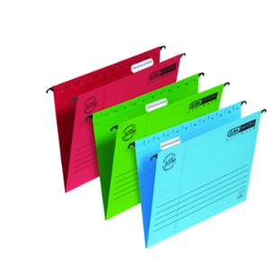 ELBA VERTICFLEX ULTIMATE RED FOOLSCAP SUSPENSION FILES V BASE - BOX OF 25