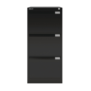 BISLEY BLACK 3-DRAWER FOOLSCAP FILING CABINET