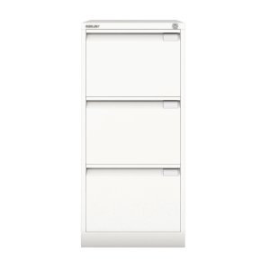 BISLEY WHITE 3-DRAWER FOOLSCAP FILING CABINET