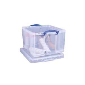 REALLY USEFUL BOX CLEAR 42 LITRE STORAGE BOX H310 X W440 X D500MM
