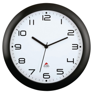ALBA WALL CLOCK BLACK