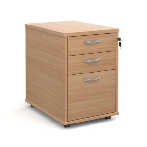 MOBILE PED 2 PERS 1 FILING DRAWER BEECH