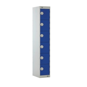 Steel Locker 1800H X 300W X 450D, 6-Door, Blue
